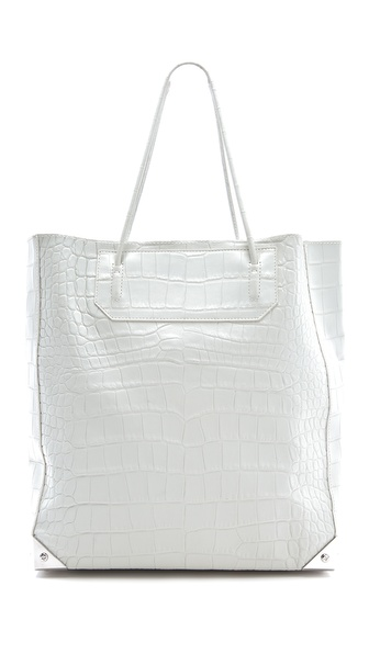 Alexander Wang Prisma Embossed Croc Tote