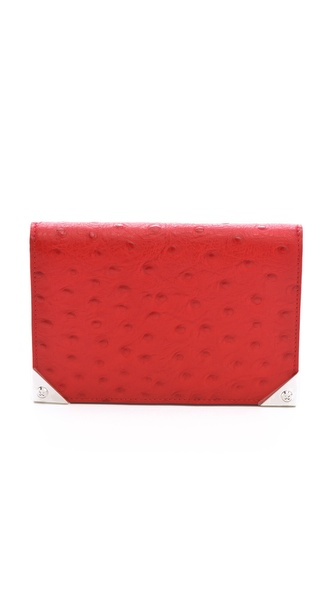 Alexander Wang Prisma Embossed Ostrich Biker Purse