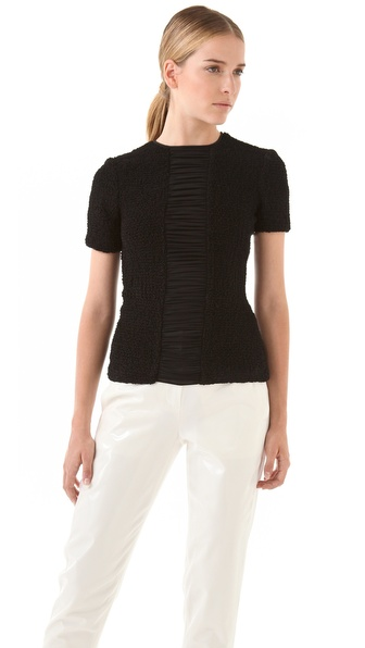 Alexander Wang Smocked Chiffon Top