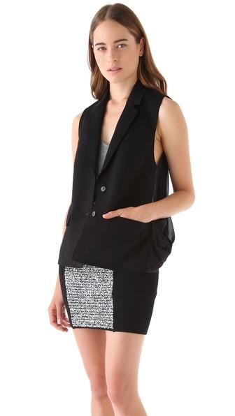 Alexander Wang Sheer Back Wool Vest