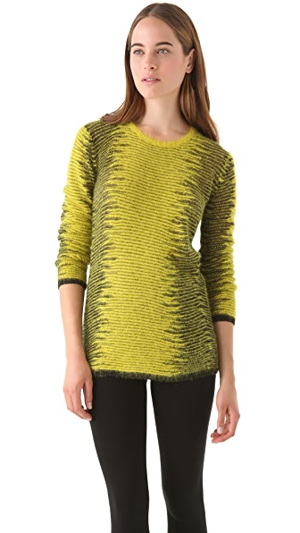 Alexander Wang Metallic Frayed Tunic Sweater