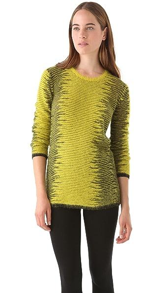 Alexander Wang Metallic Frayed Tunic Sweater