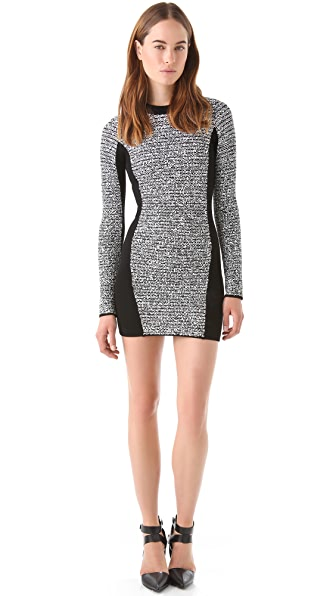 Alexander Wang Rubberized Tweed Dress