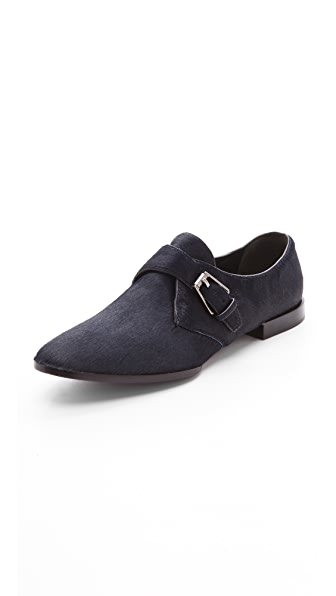 Alexander Wang Ruby Monk Strap Haircalf Flat