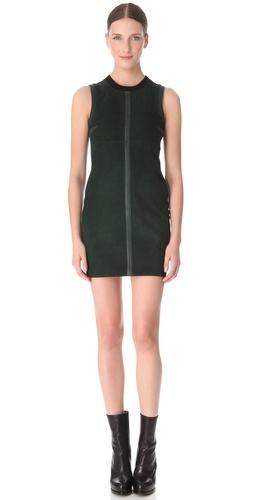 Alexander Wang Wool Suede Sleeveless Dress