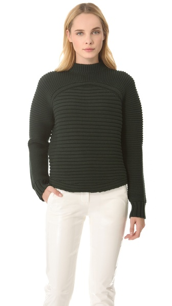Alexander Wang Mixed Rib Pullover