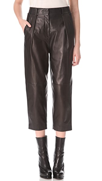 Alexander Wang Cropped Leather Combo Pants
