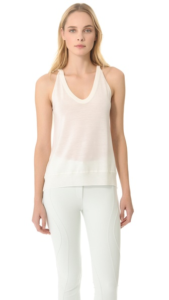 Alexander Wang Fold Back Merino Sweater Tank