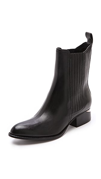 Alexander Wang Anouck Chelsea Booties with Rose Hardware