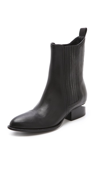 Alexander Wang Anouck Chelsea Booties With Nickel Hardware - Black at Shopbop / East Dane
