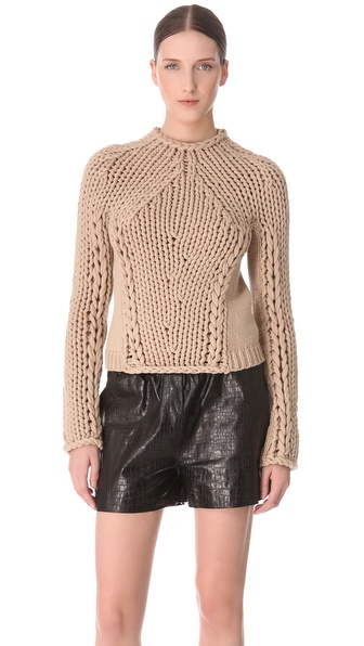 Alexander Wang Seamless Hand Knit Pullover