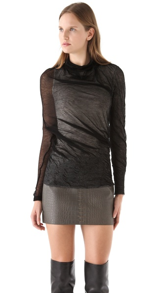 Alexander Wang Asymmetrical Sheer Sweater