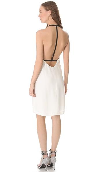 Alexander Wang Leather Strap T Back Dress