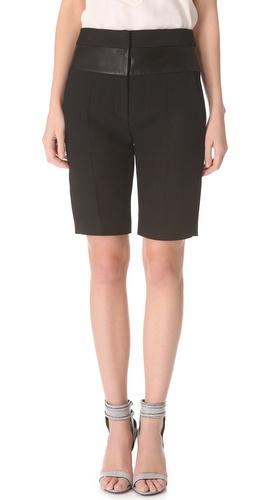 Alexander Wang Leather Band Bermuda Shorts