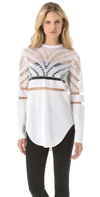 Alexander Wang Engineered Zebra Pullover