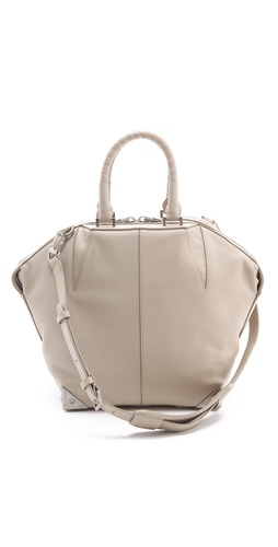 Alexander Wang Small Emile Satchel with Ostrich Leg Handles at Shopbop.com