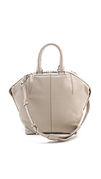Alexander Wang Small Emile Satchel with Ostrich Leg Handles