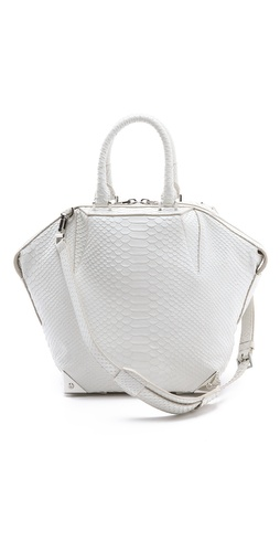 Alexander Wang Small Emile Python Embossed Satchel at Shopbop.com