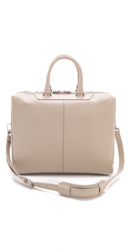 Alexander Wang Prisma Skeletal Briefcase with Ostrich Leg Handles at Shopbop.com