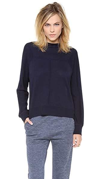 Alexander Wang Merino Asymmetrical Sweater