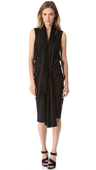 Alexander Wang Scarf Dress with Zip