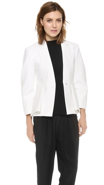 Alexander Wang Tailored Folded Vent Jacket - Eggshell at Shopbop / East Dane