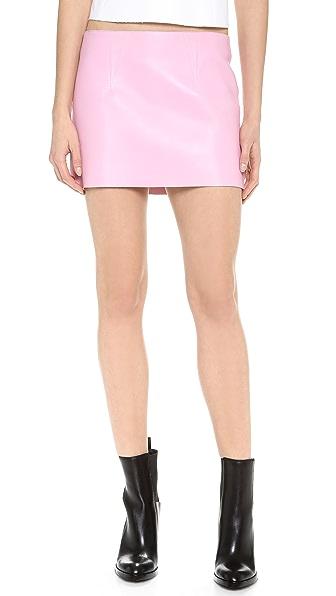Alexander Wang Leather Micro Miniskirt