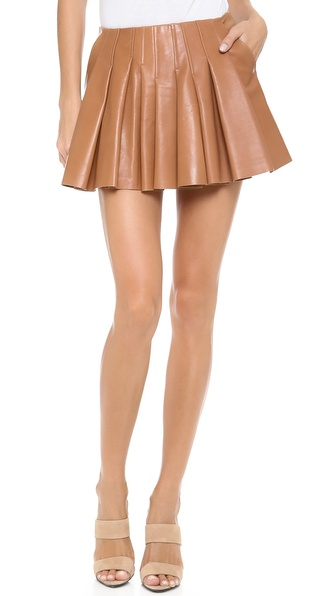 Alexander Wang Irregular Seam Leather Miniskirt