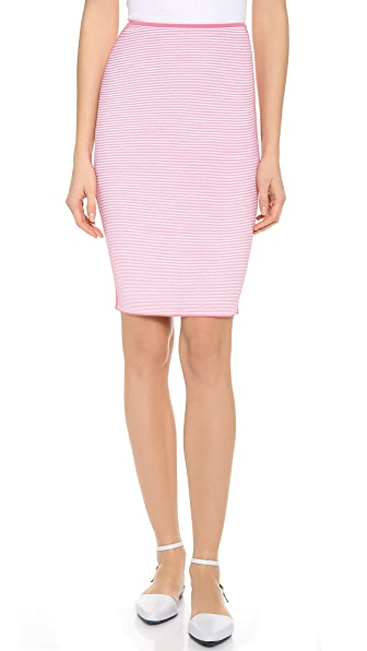 Alexander Wang Optical Stripe Pencil Skirt
