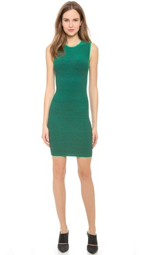 Alexander Wang Optical Stripe Tee Dress