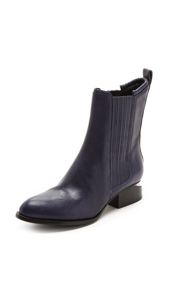 Alexander Wang Anouck Chelsea Booties With Rhodium Plate - Indigo at Shopbop / East Dane