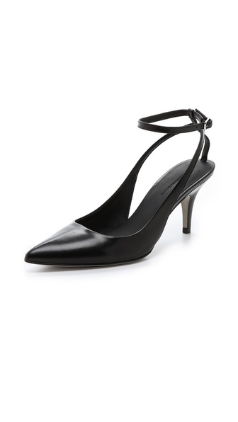 Alexander Wang Lera Kitten Heel Pumps - Black at Shopbop / East Dane