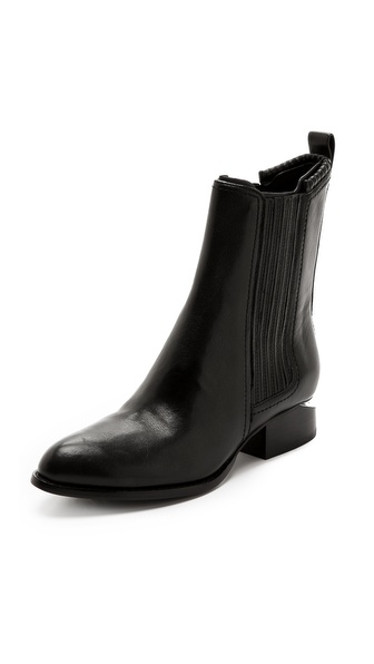 Alexander Wang Anouck Chelsea Booties With Rhodium Plate - Black at Shopbop / East Dane