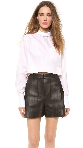 Alexander Wang Back to Front Cropped Mens Shirt