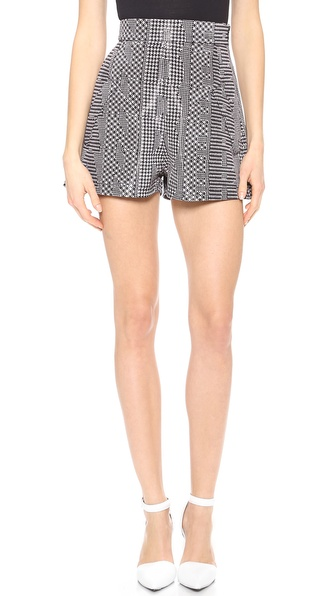 Alexander Wang High Waist A Line Shorts