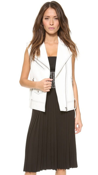 Alexander Wang Raw Edge Biker Vest - Cellophane at Shopbop / East Dane