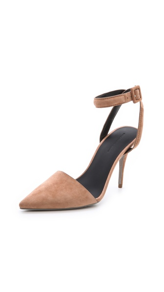 Alexander Wang Lovisa Suede Pumps - Beige at Shopbop / East Dane