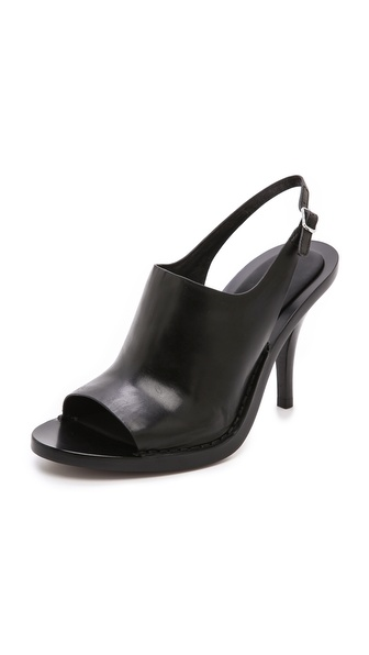 Alexander Wang Stella Slingback Mules - Black at Shopbop / East Dane