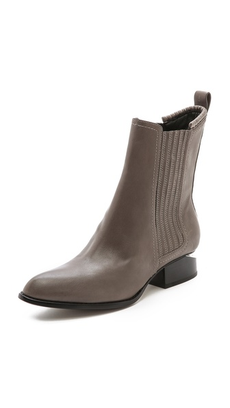 Alexander Wang Anouck Chelsea Boots With Rhodium Hardware - Gunpowder at Shopbop / East Dane