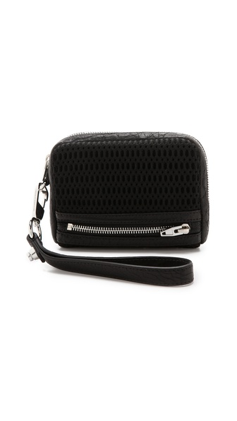 Alexander Wang Fumo Large Double Bed Mesh Wallet