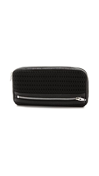 Alexander Wang Fumo Continental Double Bed Mesh Wallet