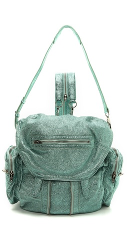 Alexander Wang Marti Foiled Shrunken Backpack at Shopbop / East Dane