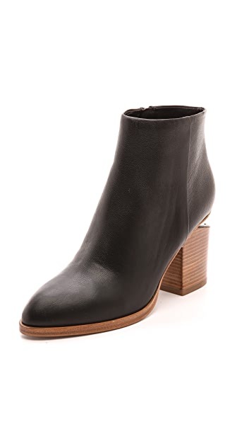 Alexander Wang Gabi Ankle Booties with Natural Heel