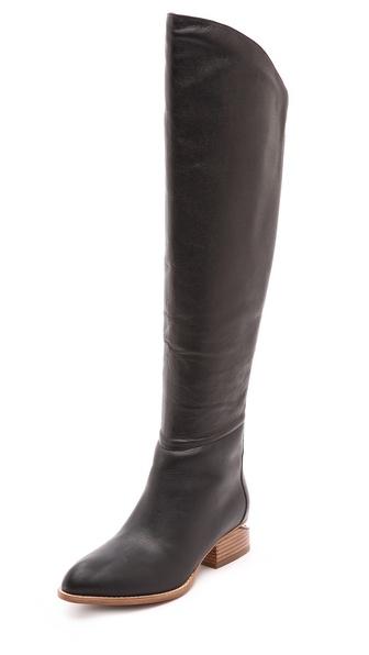 Alexander Wang Sigrid Tall Boots with Natural Heel