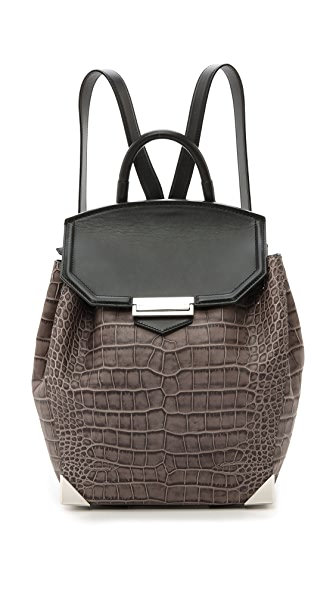 Alexander Wang Prisma Croc Embossed Backpack