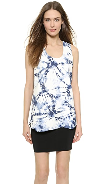 Alexander Wang Alexander Wang Jagged Leather Tank (Blue)