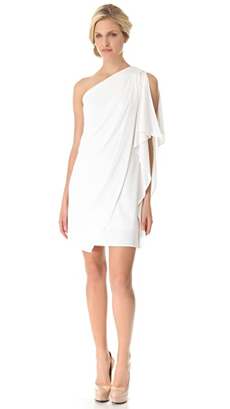 Shop Badgley Mischka Collection online and buy Badgley Mischka Collection One Shoulder Mini Dress - White dresses online