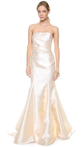 Badgley Mischka Collection Strapless Gown