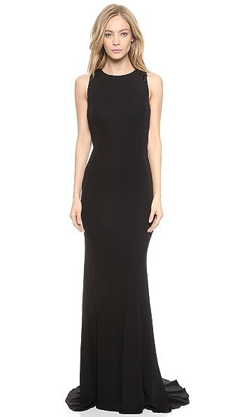 Kupi Badgley Mischka Collection haljinu online i raspordaja za kupiti Badgley Mischka Collection Knot Back Gown Black online