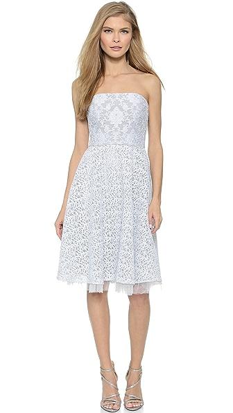 Kupi Badgley Mischka Collection haljinu online i raspordaja za kupiti Badgley Mischka Collection Mixed Lace Cocktail Dress Silver online